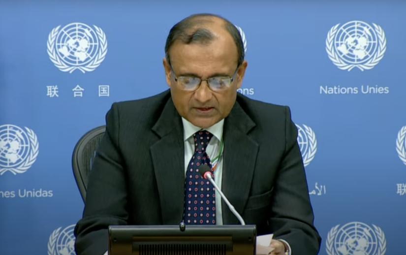 Conferencia de prensa del presidente del Consejo de Seguridad por el mes de agosto