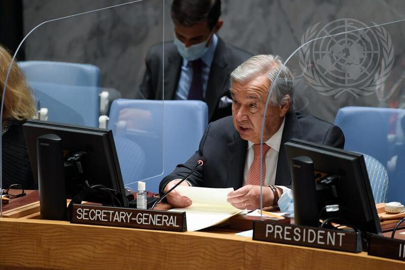 Guterres pide al Consejo de Seguridad un mantenimiento de la paz innovador, basado en datos y habilitado por la tecnología